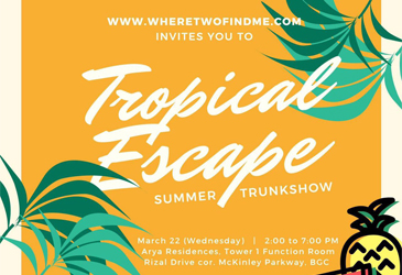 Tropical Escape Summer Trunkshow